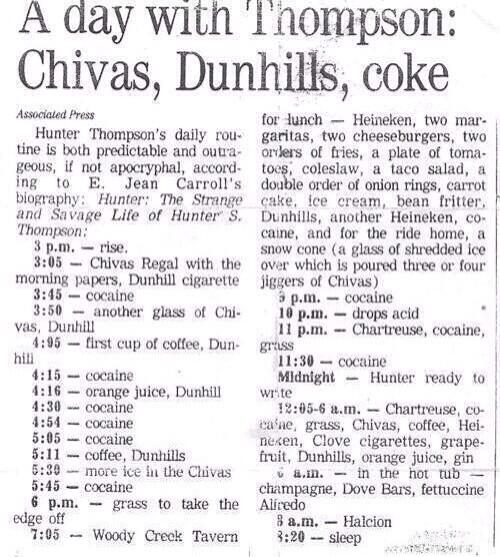 Hunter S Thompson is a professional