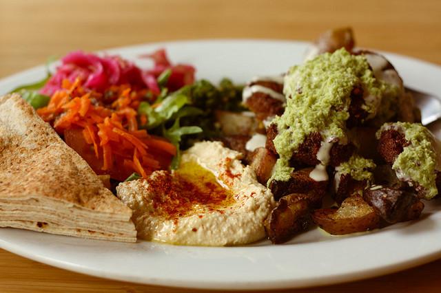 Vegan Falafal Plate at Nuba by Jennifer on Flickr