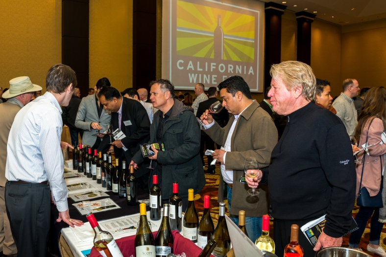 That's just two tables. There were something like 300 wines at the California Wine Fair